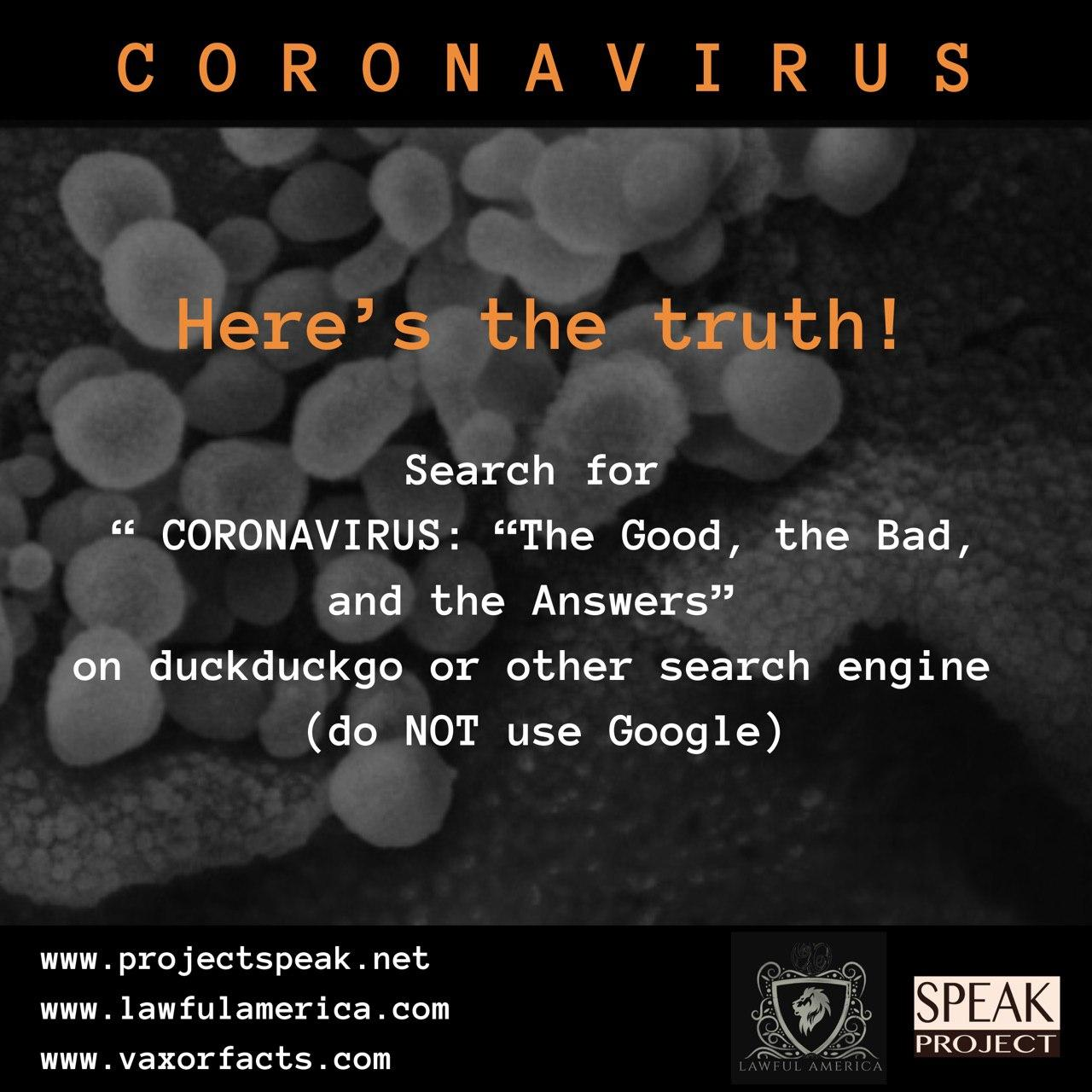 Coronavirus - Here's the Truth