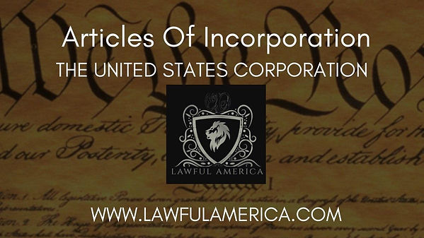 Articles of Incorporation of U.S Corpora