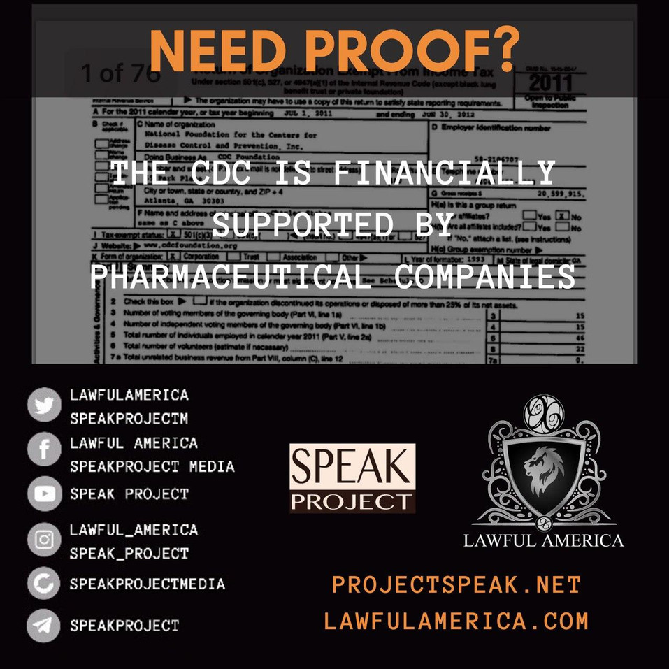 NEED PROOF - The CDC is Supported by Pha