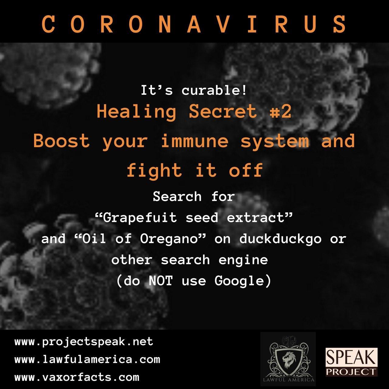 Coronavirus - Healing Secret #2