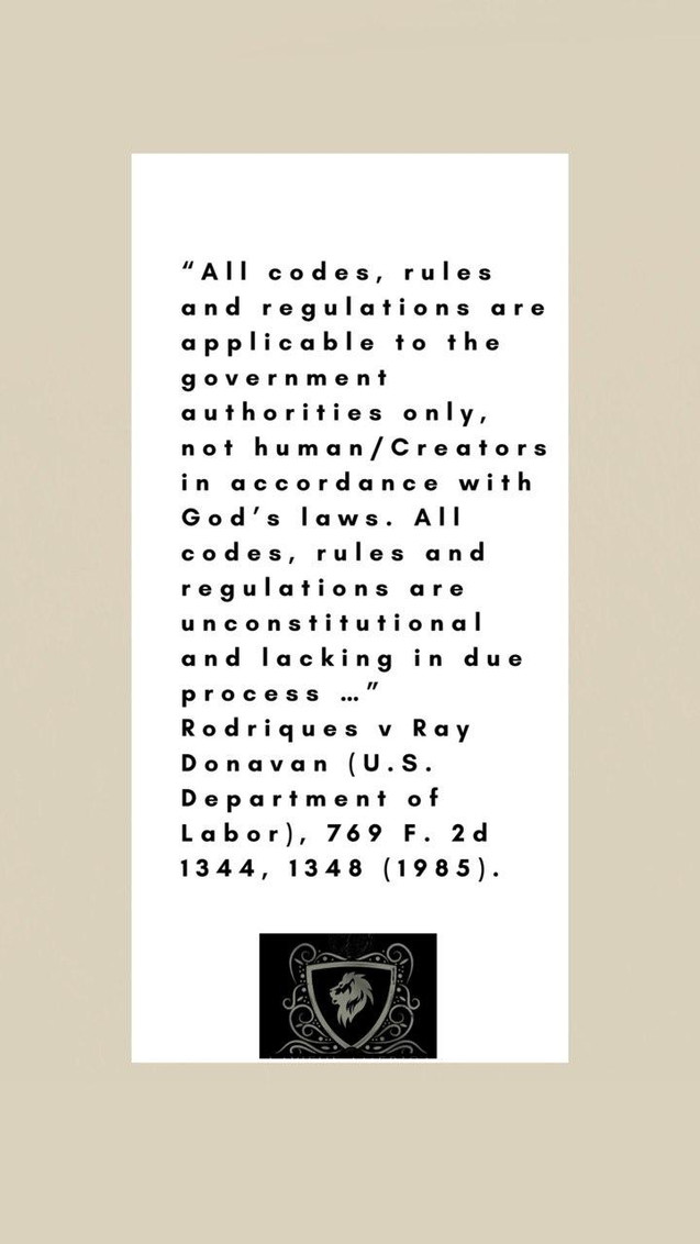 u.S. Constitution - All codes, rules and
