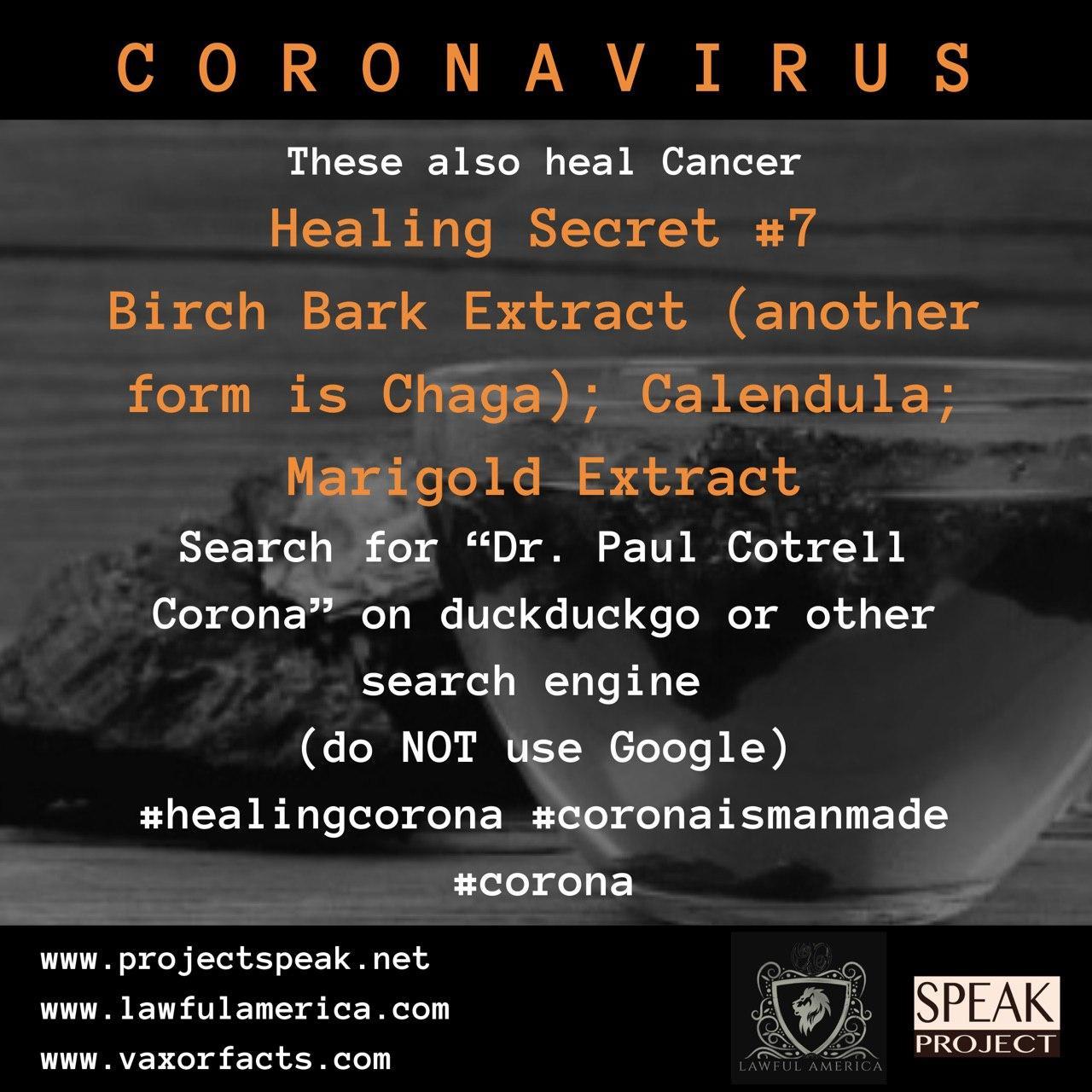 Coronavirus - Healing Secret #7