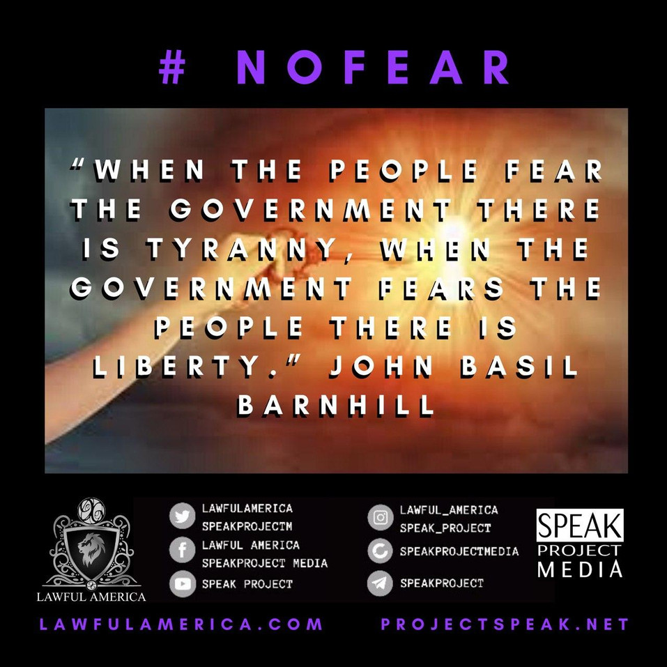 #NOFEAR - When the People Fear the Gover