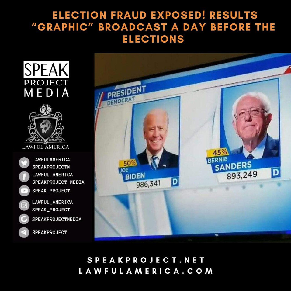Election Fraud Exposed - Results Graphic