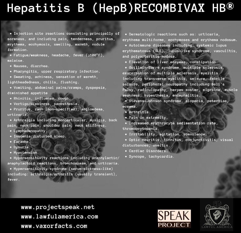 Hepatitis B (HepB) Recombivax HB