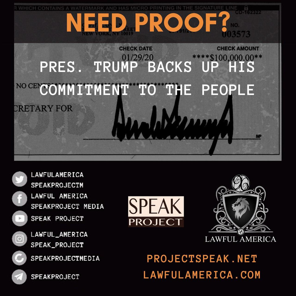 NEED PROOF - Pres. Trump Backs up his Co