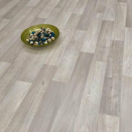 Camargue 504 Grey wood effect Vinyl flooring, 1.7m x 4m