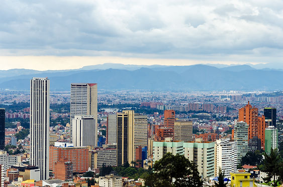 View of the skyline of Bogota, Colombia.