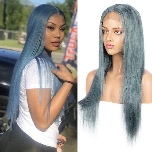 Brazilian - Straight - Baby Blue - Lace Wig