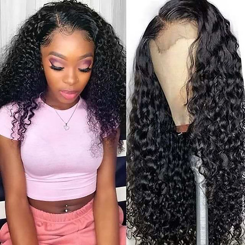 Transparent HD Lace Water Wave Pre Plucked Bleached Knots 100%  Remy Human Hair