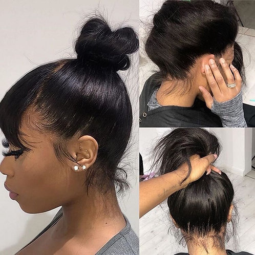 360 Lace Frontal Wig - Straight -  Baby Hair Pre-Plucked