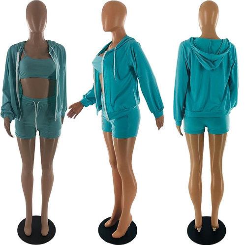 Three PieceTracksuit Sweatshirt Set