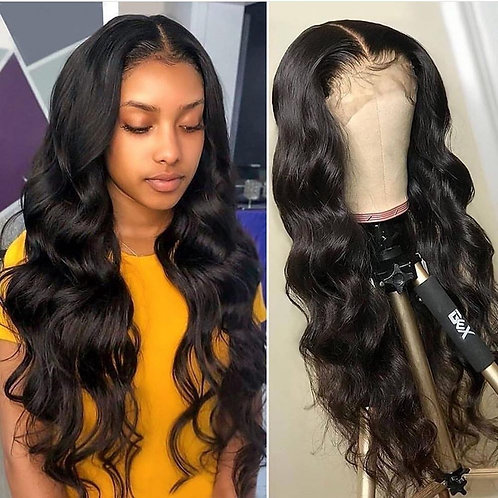 Transparent Lace 13x4 Pre Plucked Frontal Brazilian Loose Wave Wig 100% Remy