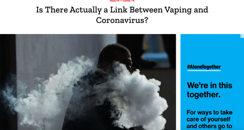 Is There Actually a Link Between Vaping and Coronavirus?