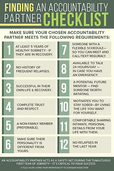 Finding An Accountability Partner Checkl