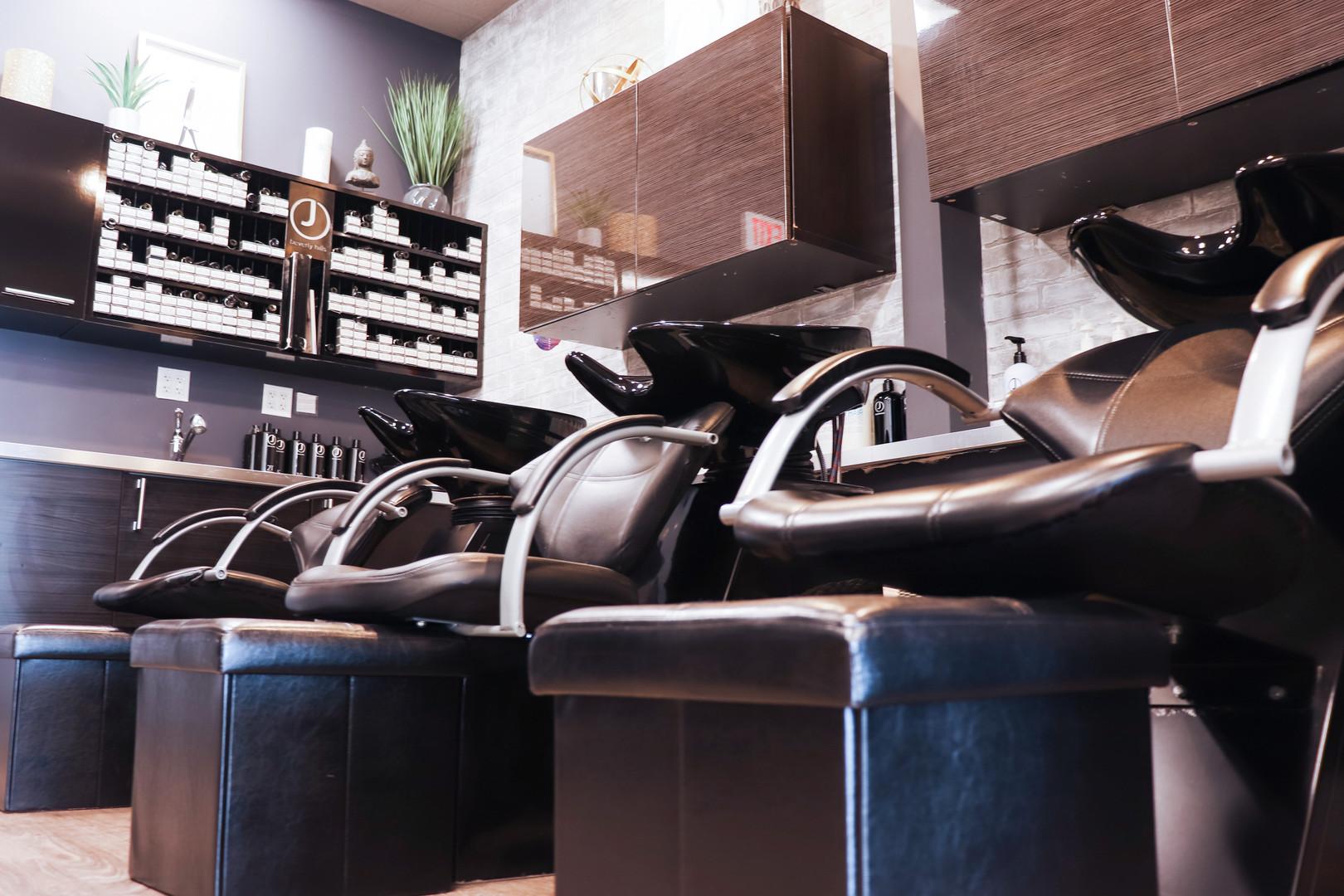 Close Up Shampoo Chairs