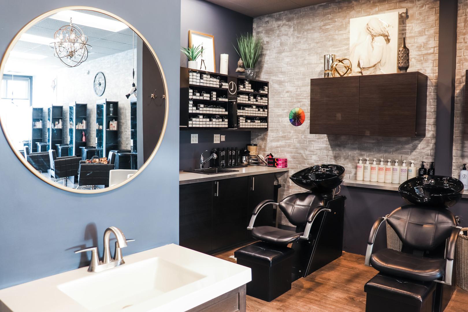 New Mirror/ Shampoo Area