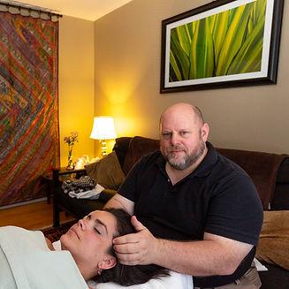 temple massage in the studio