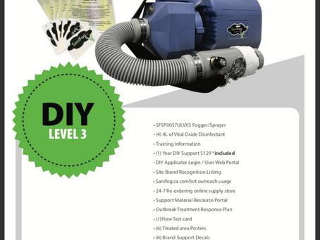SaniFog.ca Releases DIY kits In Stock