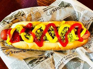 Hotdog with musterd