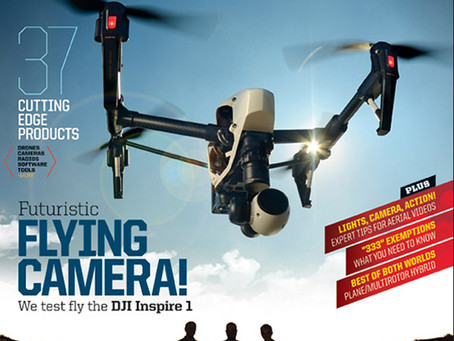 The Technical Side of Shooting Drones For The Cover Of A Magazine
