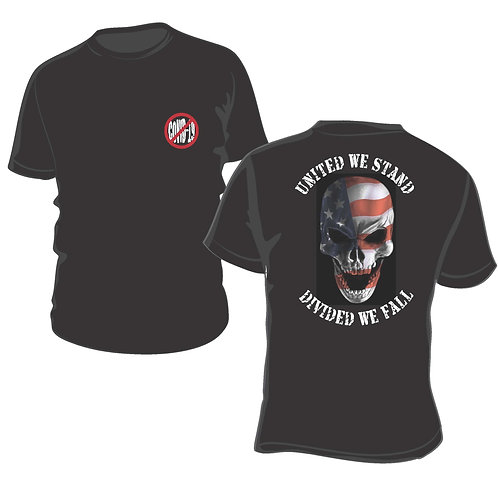 United we Stand against COVID 19 and Flag Skull T - PreSale