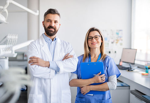 Dentists Assistant with the Dentist