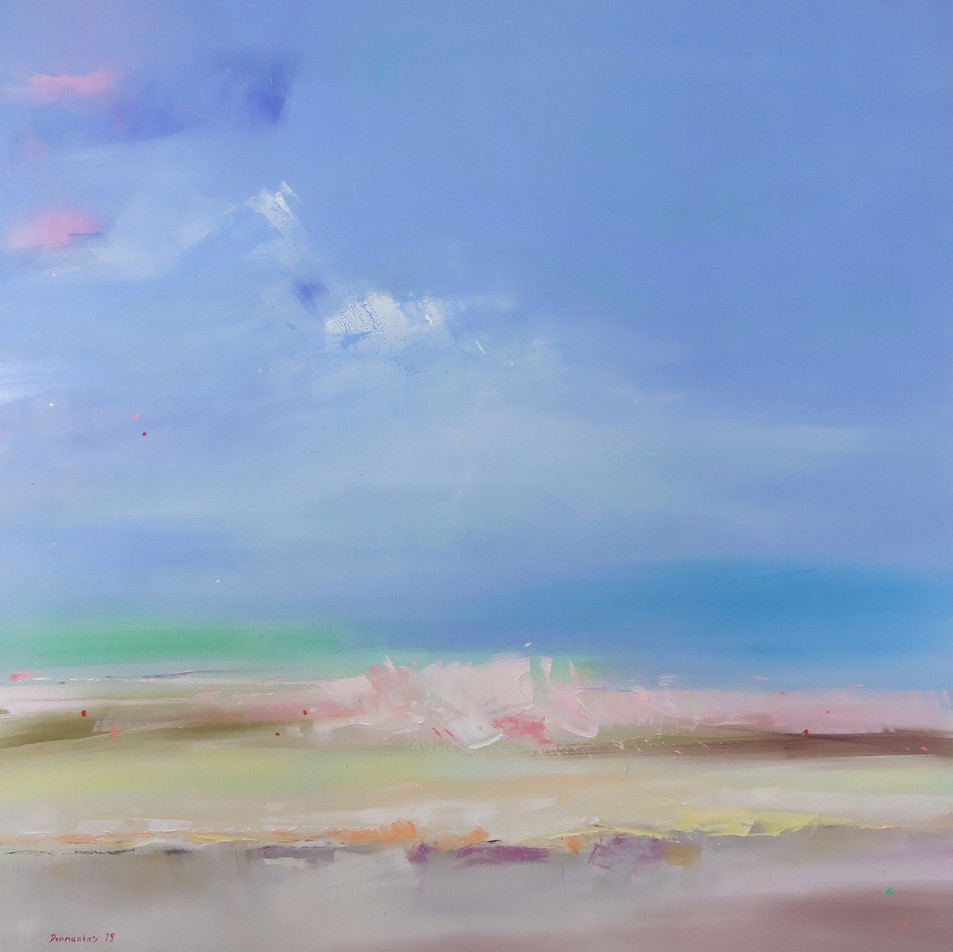 "EN  'Spectrum Fundatus' 12 Oil on canvas, 120 x 120 cm, 2019 ____  LT  ""Spectrum fundatus"" 12 Drobė | al., 120 x 120 cm, 2019"
