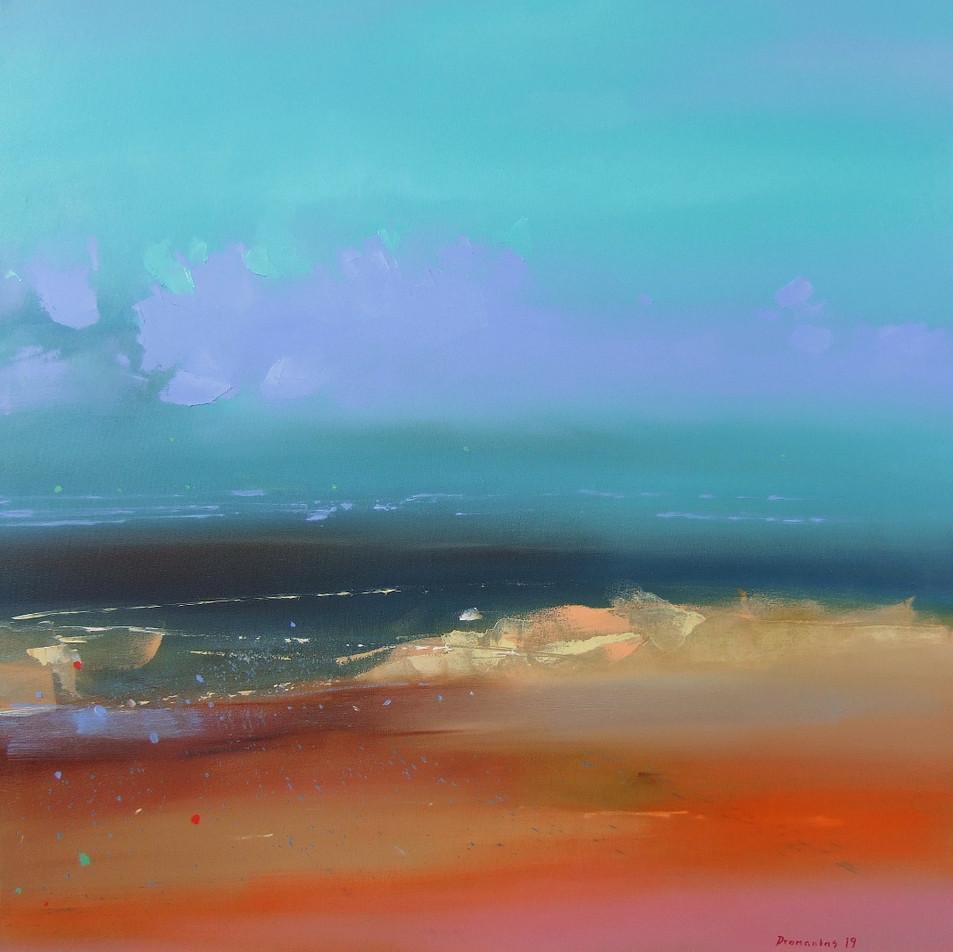 "EN  'Spectrum Fundatus' 11 Oil on canvas, 80 x 80 cm, 2019 ____  LT  ""Spectrum fundatus"" 11 Drobė | al., 80 x 80 cm, 2019"