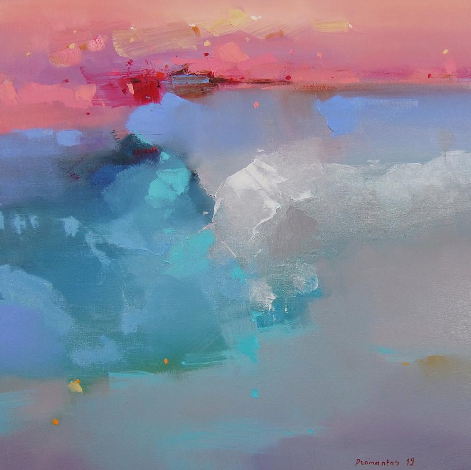 "EN  'Spectrum Fundatus' 6 Oil on canvas, 50 x 50 cm, 2019 ____  LT  ""Spectrum  fundatus"" 6 Drobė | al., 50 x 50 cm, 2019"