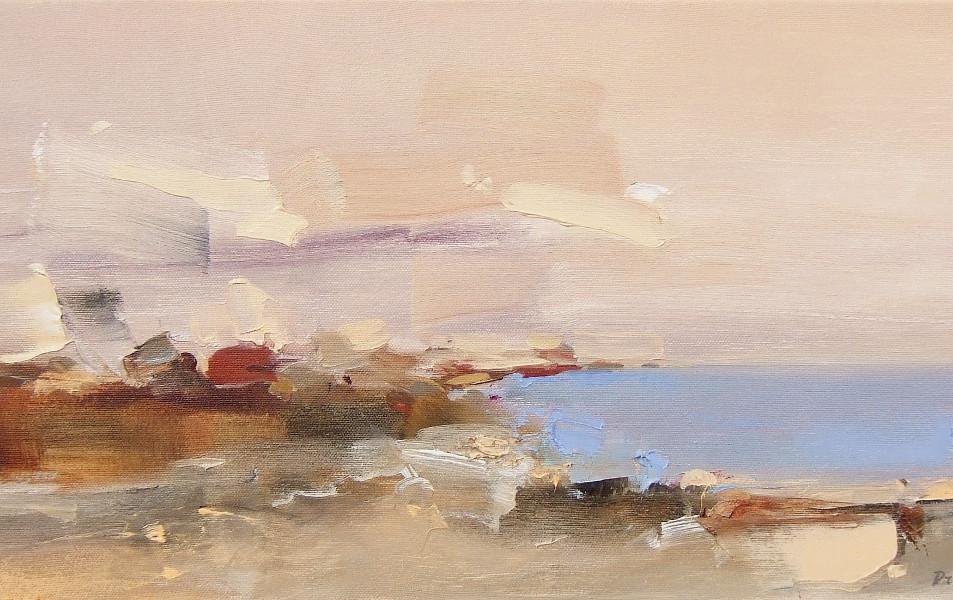 "EN  'Light and Color' 3 Oil on canvas, 24 x 60 cm, 2016 ____  LT  ""Šviesa ir spalva"" 3 Drobė | al., 24 x 60 cm, 2016"