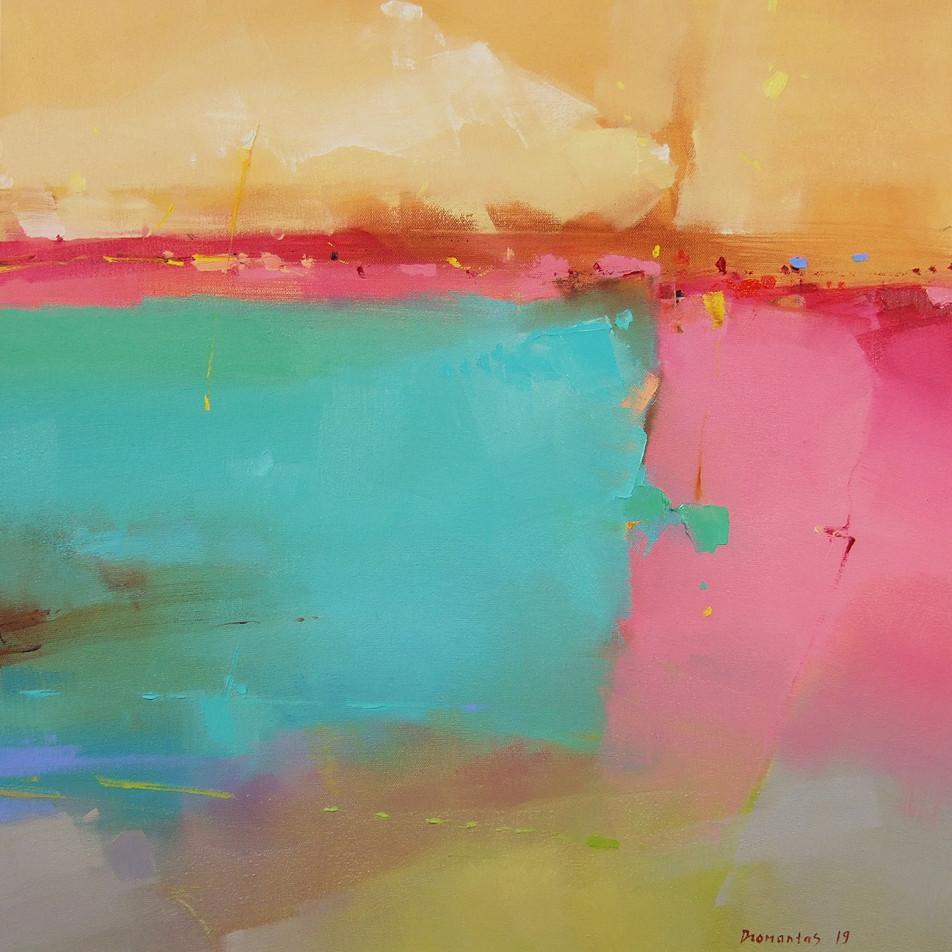 "EN  'Spectrum Fundatus' 8 Oil on canvas, 50 x 50 cm, 2019 ____  LT  ""Spectrum fundatus"" 8 Drobė | al., 50 x 50 cm, 2019"
