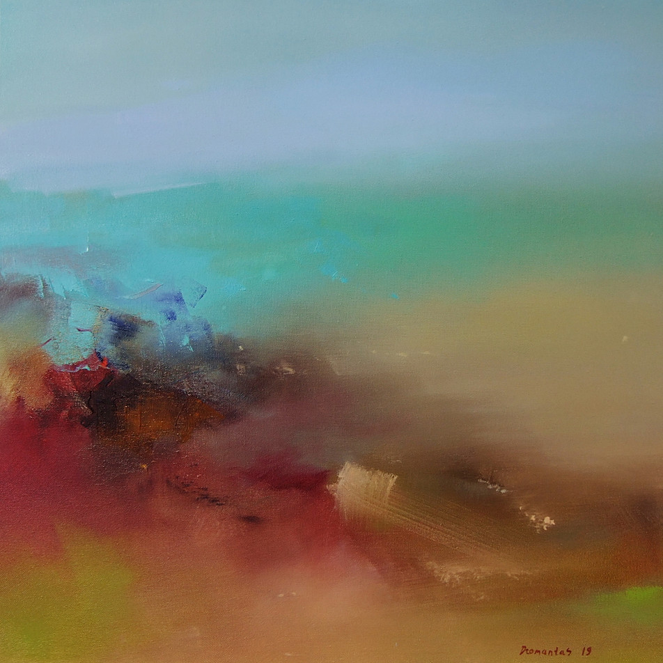 "EN  'Spectrum Fundatus' 2 Oil on canvas, 50 x 50 cm, 2019 ____  LT  ""Spectrum fundatus"" 2 Drobė | al., 50 x 50 cm, 2019"