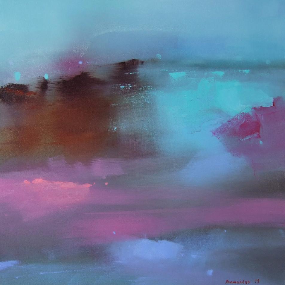 "EN  'Spectrum Fundatus' 1 Oil on canvas, 50 x 50 cm, 2019 ____  LT  ""Spectrum fundatus"" 1 Drobė | al., 50 x 50 cm, 2019"