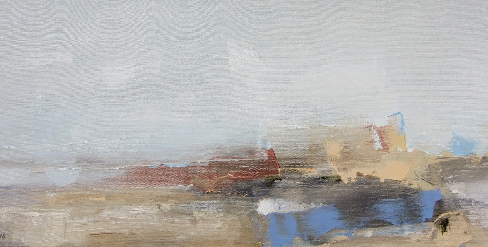 "EN  'Light and Color' 4 Oil on canvas, 24 x 60 cm, 2016 ____  LT  ""Šviesa ir spalva"" 4 Drobė | al., 24 x 60 cm, 2016"