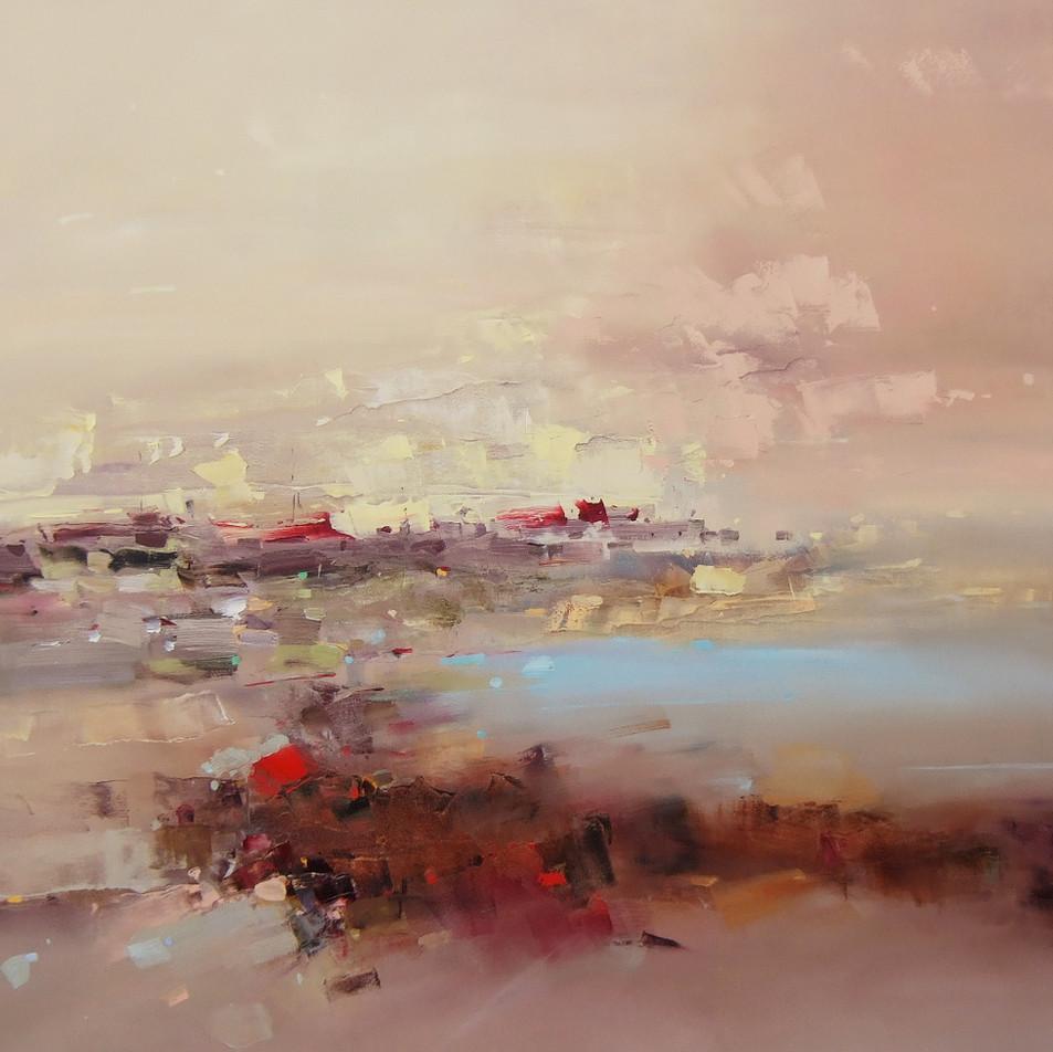 "EN  'Light and Color' 18 Oil on canvas, 95 x 90 cm, 2017 ____  LT  ""Šviesa ir spalva"" 18 Drobė | al., 95 x 90 cm, 2017"