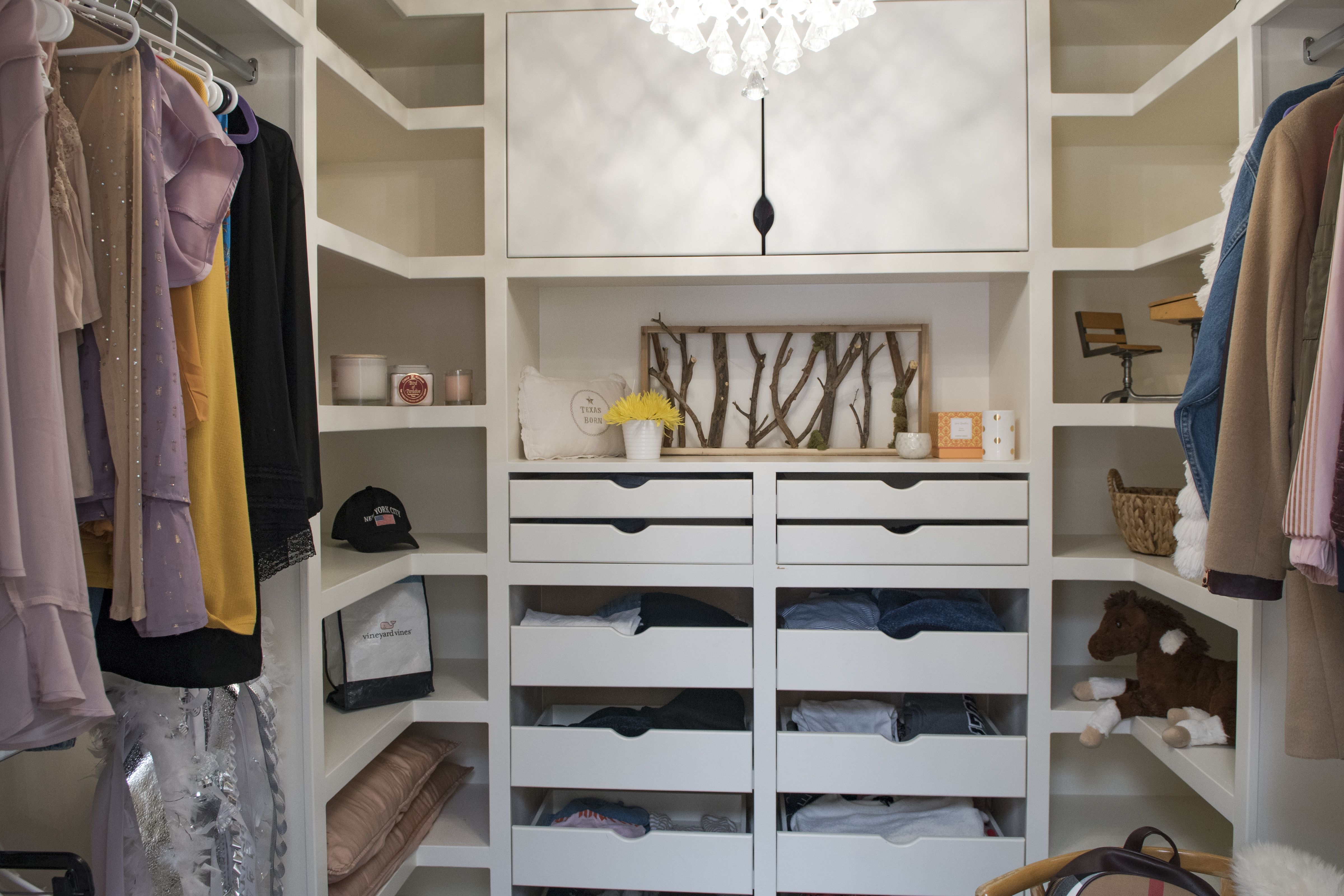 Custom Closet Drawer Space