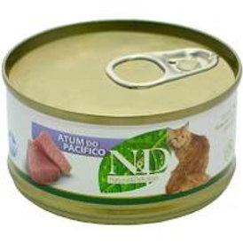 Lata N&D Atum do Pacifico para Gatos 70g