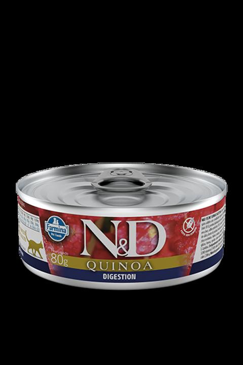 Lata N&D Quinoa Digestion para Gatos 80g