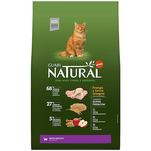 Guabi Natural Frango e Arroz Integral para Gato Adultos