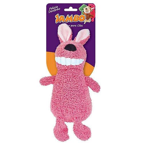 Brinquedo Para Cachorro Jambo Mordedor Pelúcia Dentinho Coelho