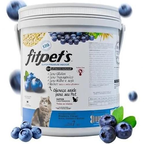Ração Fitpets Gatos Super Premium Filhotes/Adultos/Castrados Blueberry - 7Kg