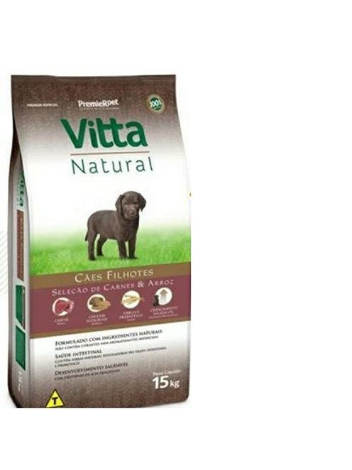 Ração Vitta Natural Carne Filhote 15k