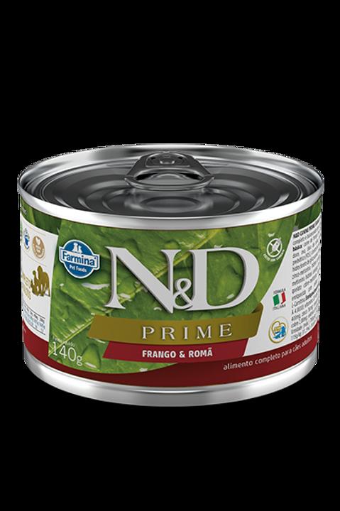 Lata N&D Prime Frango e Romã para Caes 140g
