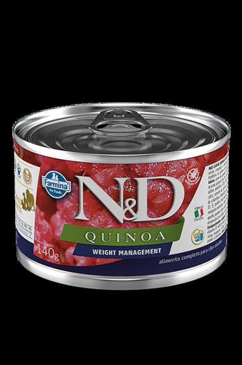 Lata N&D Quinoa Weight Management para Caes 140g