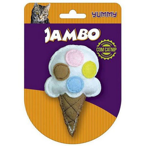 Brinquedo Jambo Yummy Cat Sorvete Branco - Branco
