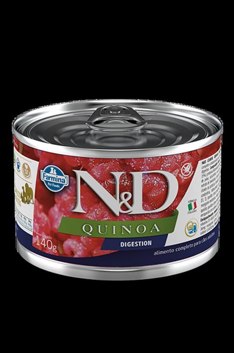 Lata N&D Quinoa Digestion para Caes 140g