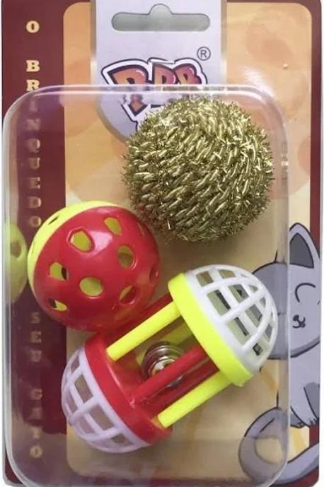 Kit Brinquedo Gato 3 Balls Sino