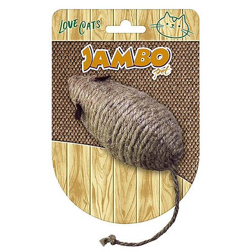Brinquedo Mouse Cat Natural - jambo