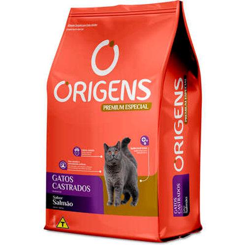 Ração Origens Premium Especial Salmão Gatos Castrados 10,1K